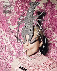 We will never tire of a lobster mask.  Nor damask.  Nor pewter.  Really everything here is quite timeless.