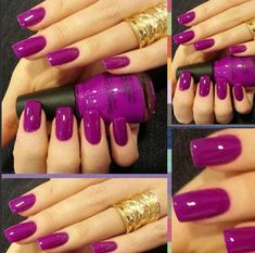 Unhas GEL by Eliene Saraiva, a Cor do momento PURPLE !!!!