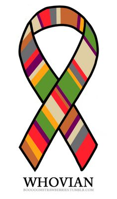 Whovian ribbon.  I want one for my car!<-- I'd get one even if I didn't have a car!! Which I don't!!!