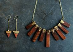 Wooden Jewelry for Every Style Wooden Jewelry for Every Style – lou lou boutiques Wooden Necklace, Wooden Earrings, Wooden Jewelry, Resin Jewelry, Jewelry Crafts, Handmade Jewelry, Jewlery, Jewelry Bracelets, Diy Schmuck