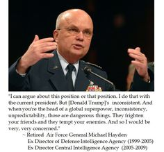 Ex CIA Director Gen. Michael Hayden on Trump's Inconsistent Leadership