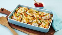 Dette er en enkel oppskrift på middag når tiden er knapp. Du legger grønnsaksblanding og fisk i en form. Klar, ferdig, bak i ovn - og middagen kan serveres.
