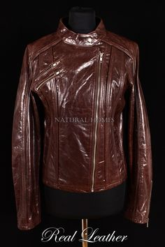 Ladies ESCAPE DENIM BLUE Stone Wash Biker Designer Real Lambskin Leather Jacket