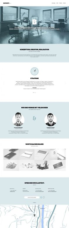 BUSTARTS - design Agency  Website design layout. Inspirational UX/UI design sample.  Visit us at: www.sodapopmedia.com #WebDesign #UX #UI #WebPageLayout #DigitalDesign #Web #Website #Design #Layout