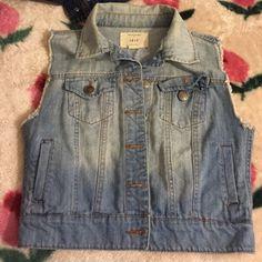 Jean vest jacket Light wash never worn didn't fit Jackets & Coats
