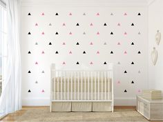 Hey, I found this really awesome Etsy listing at https://www.etsy.com/listing/182870450/triangles-pattern-wall-decal-12-or-3