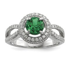 Share & Earn earn Bonus reward points toward fine jewelry Sterling Silver &... Check it out here! http://shirindiamond.net/products/sterling-silver-cz-brilliant-embers-circle-ring-qmp1330?utm_campaign=social_autopilot&utm_source=pin&utm_medium=pin