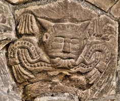 Horned Green Man in the Templar Church of St. Michael, Garway, Herefordshire, England (photo Simon Brighton)