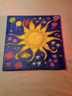 Acryl malen#Sonne #Bunt