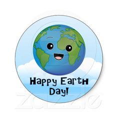 Earth Day Stickers, Cute and Fun for teachers, school or kids gifts!