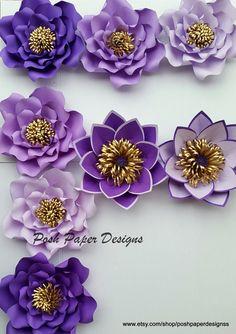 Telón de fondo de flores pared de flores de papel de papel