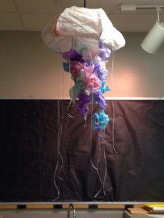 Paper mâché jellyfish