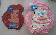 Something seems off about this Little Mermaid cake. #PinterestFail