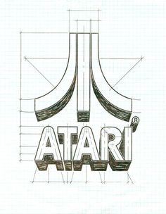 """Designed by George Opperman in 1972, the logo represents a stylized letter 'A'.    """"Back in 1972, Atari's claim to fame was 'Pong,' and George says the two side pieces of the Atari symbol represent two opposing video game players, with the center line of the 'Pong' court in the middle."""""""