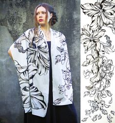 Women scarf, Original Art hand painted, Flowing Roses, petals, stunning unique and useful, perfect gift.