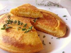 pão de fubá de frigideira