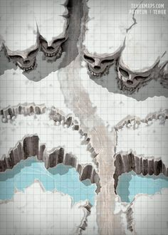Fantasy Map, Fantasy Places, Fantasy Artwork, Dungeons And Dragons Homebrew, D&d Dungeons And Dragons, Pathfinder Maps, Dnd Stories, Rpg Map, Dungeon Maps