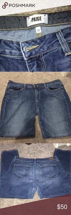 Jimmy Jimmy Crop Good condition, size 29, Paige denim jeans, PAIGE DENIM Jimmy Jimmy Crop STYLE PAIGE Jeans Ankle & Cropped