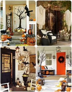 Scary and Creepy Halloween Front Porch Ideas Halloween Mantel, Outdoor Halloween, Halloween Themes, Halloween Projects, Halloween Crafts, Happy Halloween, Holidays Halloween, Halloween Decorations, Porch Ideas For Halloween