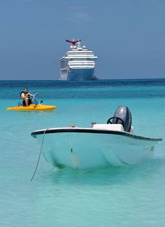 Stop me if you heard this one: a paddle boat, a fishing boat and a fun ship are all hanging out one day... (HMC, Bahamas)