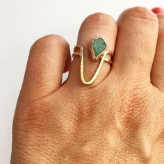 @melissatysondesigns  >>> Raw Emerald with 14k Rose Gold <<< Sculptural Fine Jewelry. Ethically handcrafted in a studio by the sea.  Specializing in custom made Engagement Rings.  Shop: http://ift.tt/1onUAei  Follow: @melissatysondesigns Re-post by Hold With Hope