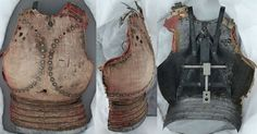 Goblose / corrazina, 14th century, a cloth covered multi plate cuirass. The Bayerisches National museum.