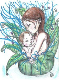 Breastfeeding and Pregnancy drawings - Ankolie