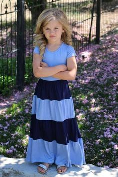The Maxi Dress is ever so popular for any age! You& little girls will love twirling around in them, while your older girls will love the trendy style! Kids Maxi Dresses, Little Girl Dresses, Modest Dresses, Modest Outfits, Kids Outfits, Girls Dresses, Cheap Dresses, Summer Outfits, Little Girl Fashion
