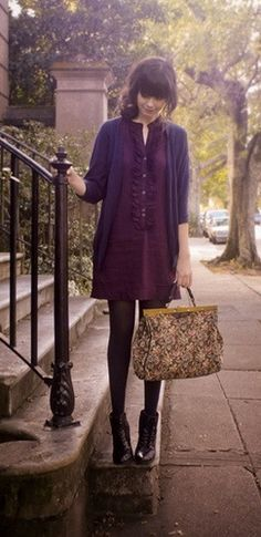 romantic style for autumn.  I love carpetbags!