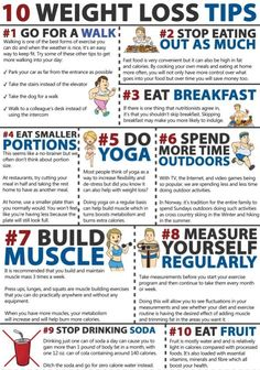 10 Weight Loss Tips [Infographic]