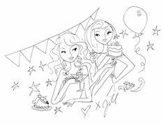 Party-tekening van Jill.