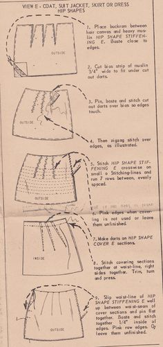 Readers, I just scored the coolest piece of 50s sewing ephemera off of eBay: a Vogue pattern for shoulder and hip pads! Casey knows that I...