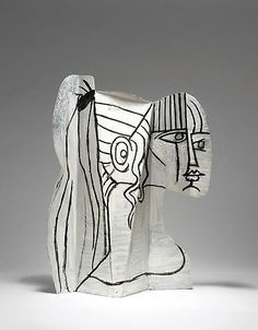 cubism 여 pablo picasso slvette metal cutout bent painted ob both side 26 x 19 x 4 inches x 50 x 11 cm) private collection Pablo Picasso, Kunst Picasso, Art Picasso, Picasso Paintings, Oil Paintings, Portraits Cubistes, Cubist Portraits, Portrait Paintings, Indian Paintings