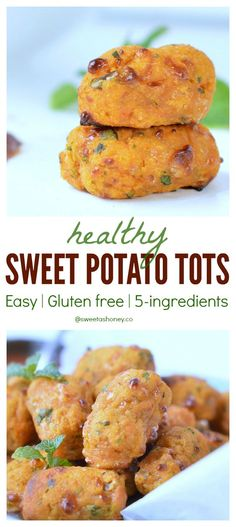 Easy Sweet Potato Tots - an healthy appetizer perfect as to create healthy kids lunchbox or healthy party foods for birthdays.