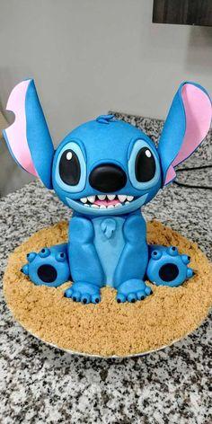 I made a Stitch cake:) – – birthdaycakeideas Lilo And Stitch Cake, Lilo And Stitch Quotes, Lelo And Stitch, Lilo Et Stitch, Disney Desserts, Cute Desserts, Disney Cakes, Disney Food, Crazy Cakes