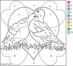 Nicole's Free Coloring Pages: Valentines Wedding Coloring Pages, Spring Coloring Pages, Christmas Color By Number, Christmas Colors, Christmas Crafts, Free Coloring, Adult Coloring, Coloring Books, Color By Number Printable
