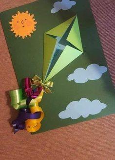 Kids Crafts, Summer Crafts, Preschool Crafts, Diy And Crafts, Craft Activities, Paper Crafts, Diy Paper, Tarjetas Diy, Kids Birthday Cards