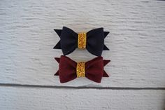 Midnight Set of Felt Bow Clips for Women, Girls and Babies