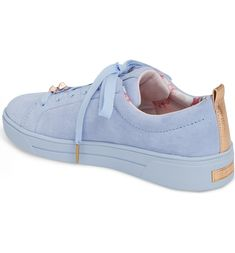 TED BAKER Kelleis Sneaker,, Light Blue Suede
