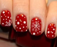 red nails - snowflake on imgfave