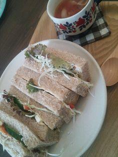 のいちごカフェのサンドイッチ