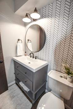 Half Bath Remodel, Diy Bathroom Remodel, Bathroom Renos, Bathroom Interior, Master Bathroom, Bathroom Cabinets, Small Basement Bathroom, Bathroom Makeovers, Tub Remodel