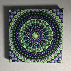 Hand Painted Mandala on Canvas Meditation Mandala Dot Mandala Wall Art Zen Mandala Decor Dot Mandala Painting Calming Healing, Henna Canvas, Mandala Canvas, Mandala Dots, Mandala Painting, Dot Painting, Mandala Design, Painted Rocks, Hand Painted, Art Simple