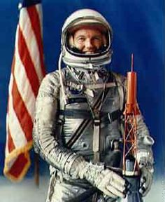 One of the original Mercury Astronauts and the last American to fly in space alone. On May 15, 1963 he shot into space in a Mercury capsule for a 22 orbit journey around the world. During the final orbit, Major Gordon Cooper told the tracking station at Muchea (near Perth, Australia) that he could see a glowing, greenish object ahead of him quickly approaching his capsule. The UFO was real and solid, because it was picked up by Muchea's tracking radar. Cooper's sighting was repor