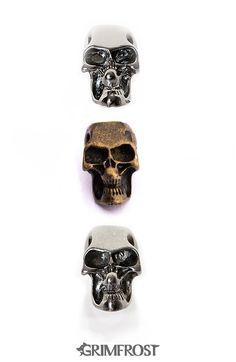 Beard Bead Set, Skull Beads