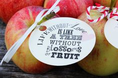 LOVE Favor Tags // Fall Country Wedding // Love by 3LittleFinches