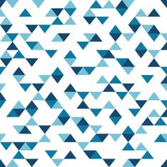 Triangles Blue Art Print