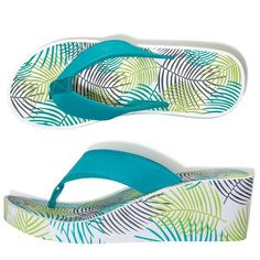 Step into the sun! Cheerful summer flip-flops with printed wedge. Regularly $12.99, shop Avon Fashion online at http://eseagren.avonrepresentative.com