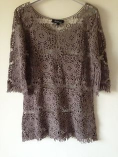 ao with <3 / Isabel Marant Taupe Crochet Tunic