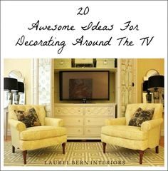 Decorating Around The TV | 20 Elegant, Inspiring Ideas - laurel home
